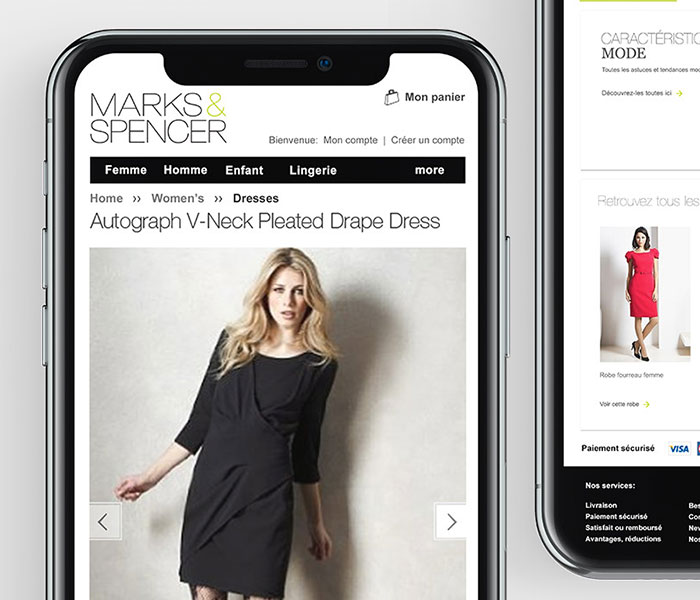 Marks and Spencer France website